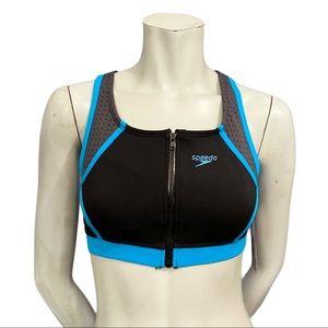 Speedo Endurance Lite Black/Blue Bikini Top M